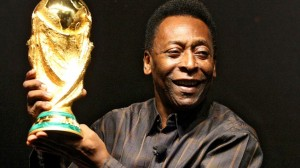 Pele and trophy