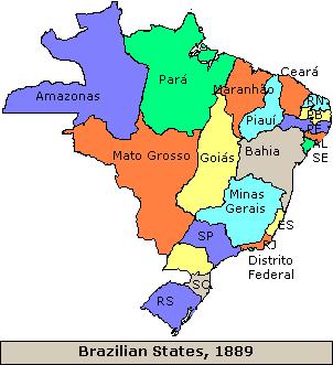 Brazil states 1889