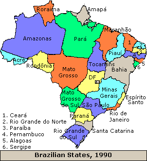 Brazil states 1990