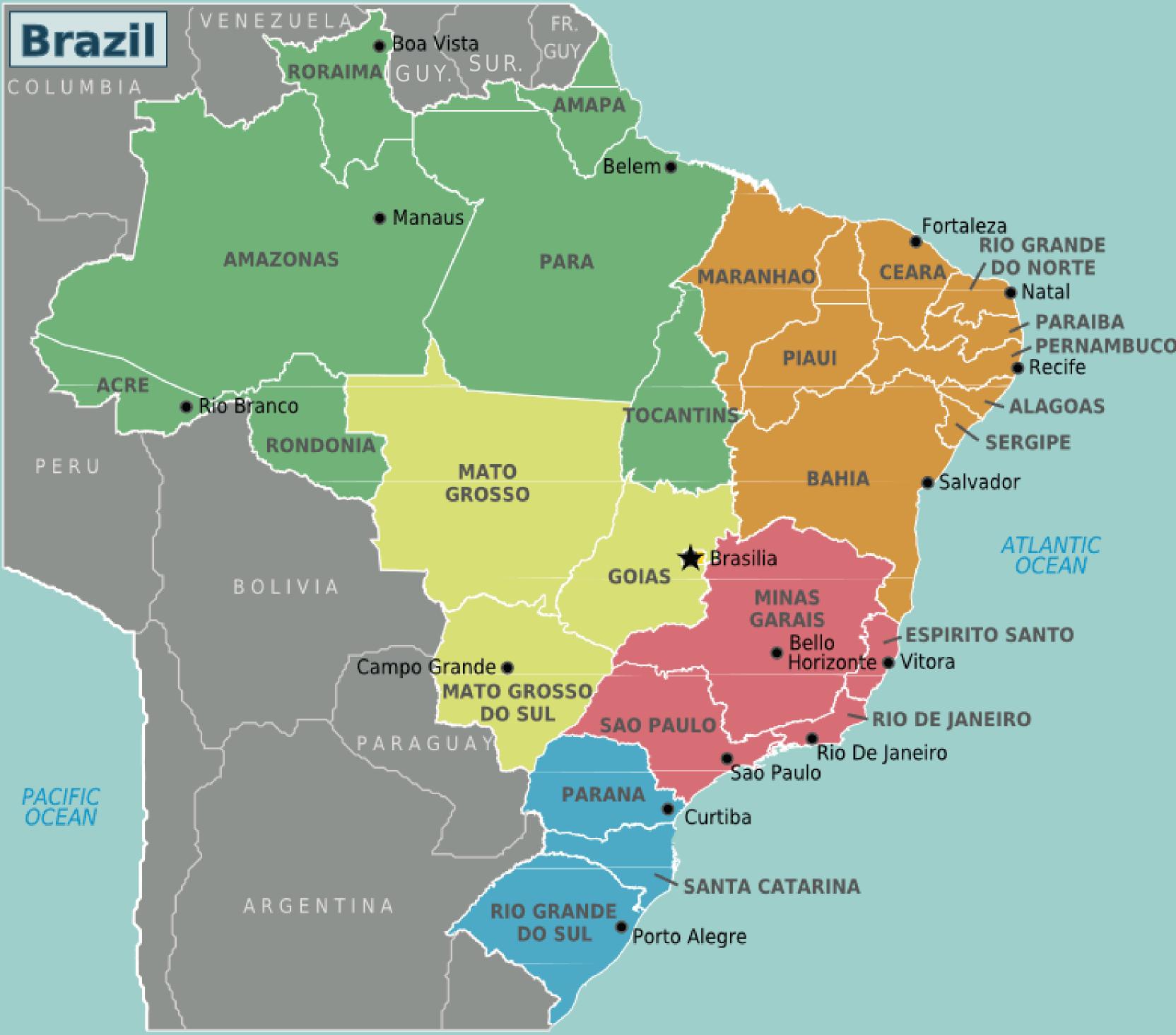 kart over amazonas kart | BrasiLeira | Alt du trenger å vite om Brasil og Amazonas kart over amazonas
