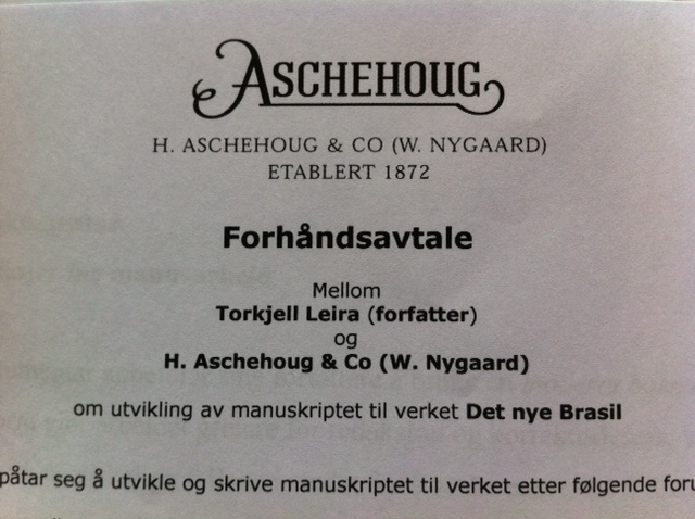 Forhandsavtale Aschehoug
