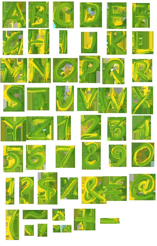 Brazil-paint-font-alphabet