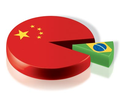 Flags China eats Brazil