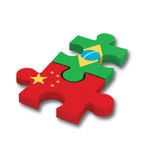 flags puzzle China Brasil