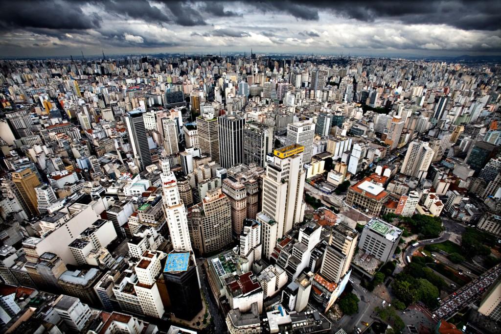 Sao Paulo skyline dag