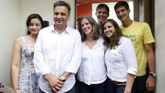 Aecio Neves e Renata Campos
