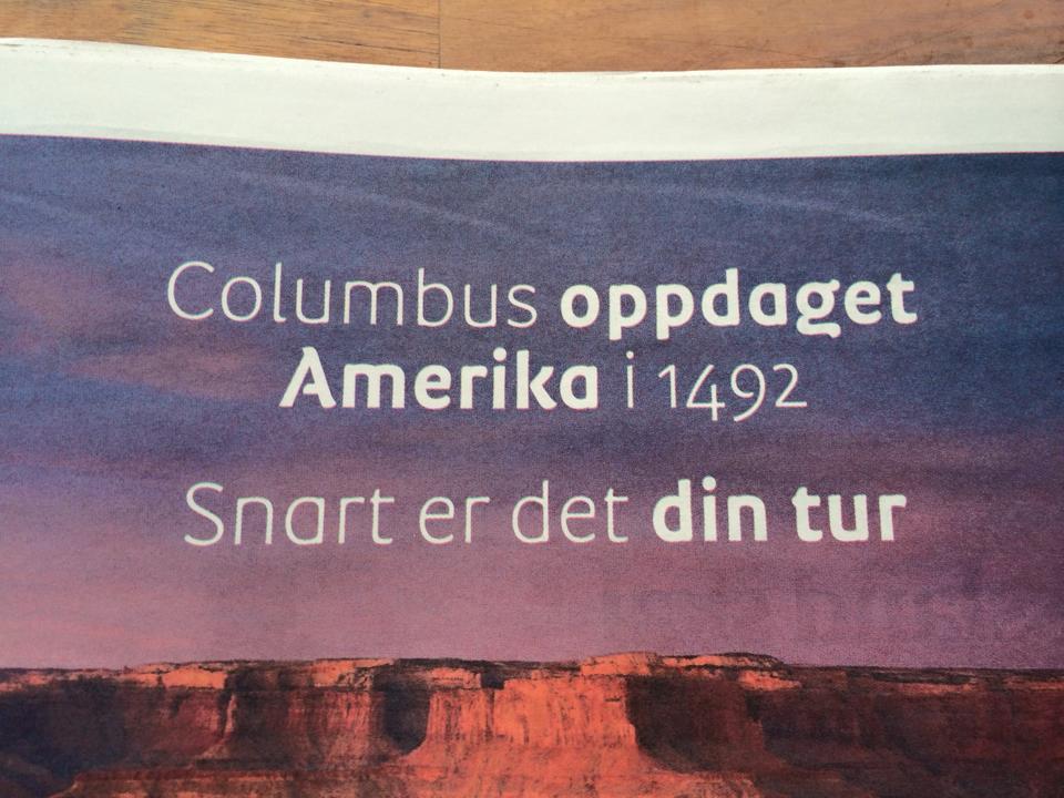 Albatros Columbus oppdaget Amerika
