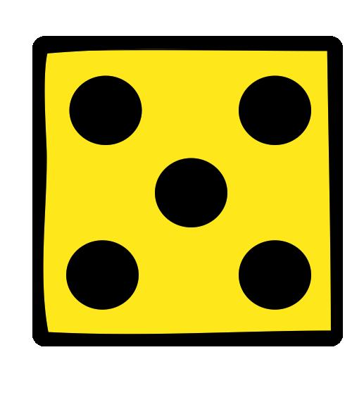 Terning 5 gul