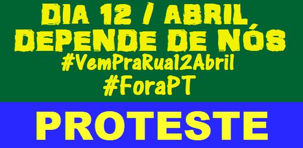 Protesto 12 abril