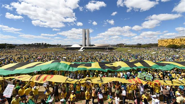 Protest Brasilia 16 august 2015