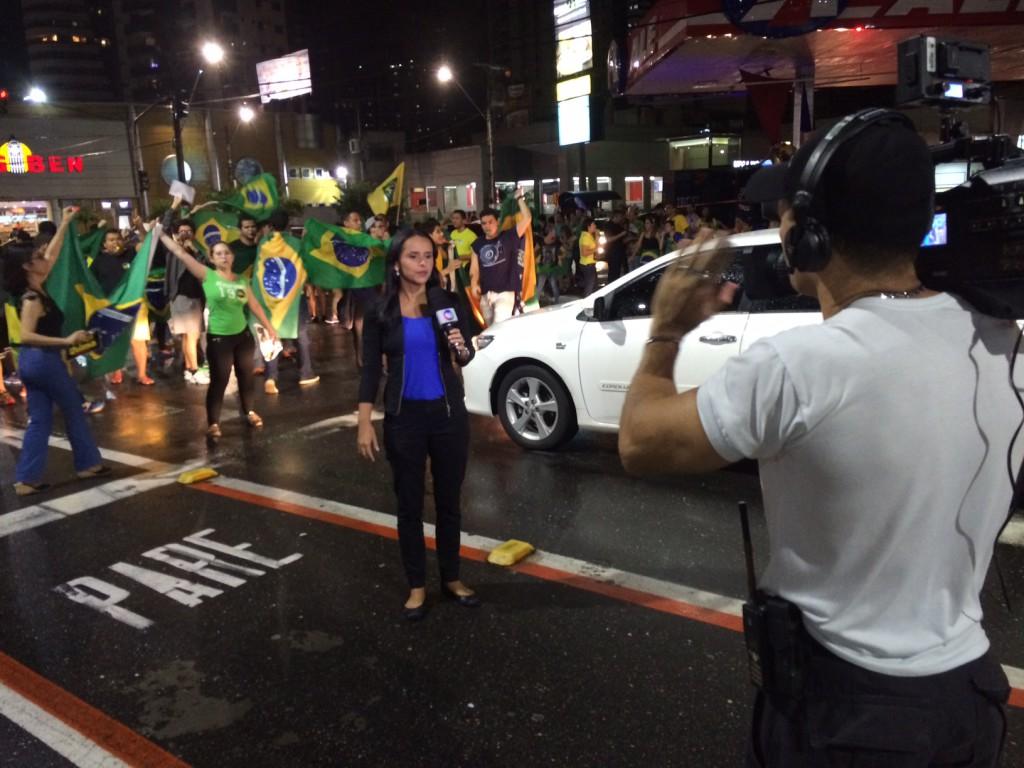 Protest reporter Belem